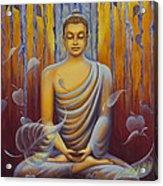 Buddha Meditation Acrylic Print by Yuliya Glavnaya