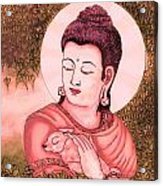 Buddha Red  Acrylic Print by Loganathan E