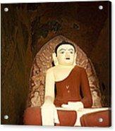 Buddha Statue In Dhammayangyi Paya Temple Acrylic Print by Ruben Vicente