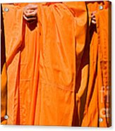 Buddhist Monks 03 Acrylic Print by Rick Piper Photography