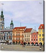 Budweis - Namesti Premysla Otakara II Acrylic Print by Christine Till