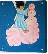 Building A Cloudman Acrylic Print by Pamela Allegretto