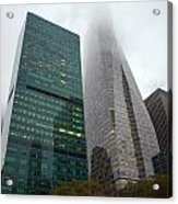 Buildings In Bryant Square Ny Acrylic Print by Denise Thompson