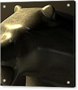 Bull Market Bronze Casting Contrast Acrylic Print by Allan Swart