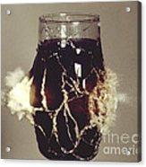 Bullet Piercing Glass Of Soda Acrylic Print by Gary S. Settles