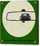 Bullitt Poster Acrylic Print by Naxart Studio