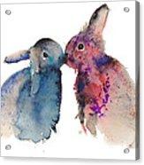 Bunnies In Love Acrylic Print by Kristina Bros