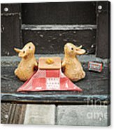 Bunny Picnic Acrylic Print by Dean Harte