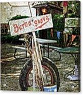 Burma Shave Sign Acrylic Print by RicardMN Photography