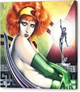 Burn Clara Bow Opus 7 Acrylic Print by Paul Petro