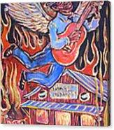 Burnin' Blue Spirit Acrylic Print by Robert Ponzio