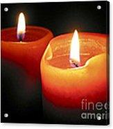 Burning Candles Acrylic Print by Elena Elisseeva