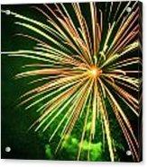 4th Of July Fireworks 6 Acrylic Print by Howard Tenke