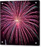 4th Of July Fireworks 24 Acrylic Print by Howard Tenke