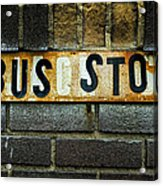 Bus Stop Acrylic Print by Jeff Burton
