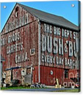 Bush And Bull Roadside Barn Acrylic Print by Paul Ward