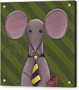 Business Mouse Acrylic Print by Christy Beckwith