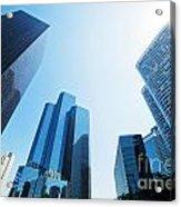 Business Skyscrapers Acrylic Print by Michal Bednarek