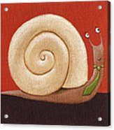 Business Snail Painting Acrylic Print by Christy Beckwith