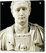 Bust Of Emperor Domitian Acrylic Print by Anonymous