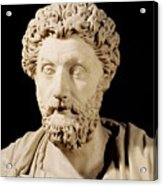 Bust Of Marcus Aurelius Acrylic Print by Anonymous