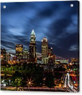 Busy Charlotte Night Acrylic Print by Chris Austin