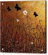 Butterflies Landscape Acrylic Print by Carmen Guedez