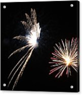 Butterfly And Flower Fireworks Acrylic Print by Howard Tenke