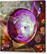 Butterfly Garden Globe Acrylic Print by Robin Moline