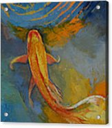 Butterfly Koi Acrylic Print by Michael Creese