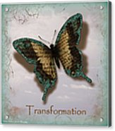 Butterfly Of Transformation Acrylic Print by Bobbee Rickard