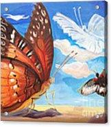 Butterfly Paysage 2 Acrylic Print by Art Ina Pavelescu