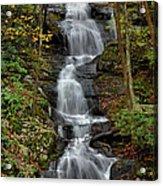 Buttermilk Falls In Autumn Acrylic Print by Stephen  Vecchiotti