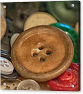 Buttons Acrylic Print by Brenda Bryant