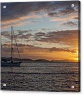 Bvi Sunset Acrylic Print by Adam Romanowicz