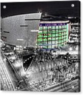 Bw Of American Airline Arena Acrylic Print by Joe Myeress