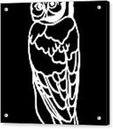 Bw Owl Acrylic Print by Amy Sorrell