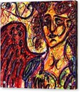 Byzantine Angel Acrylic Print by Rachel Scott