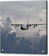 C130 Hecules    In Trail Acrylic Print by Pat Speirs