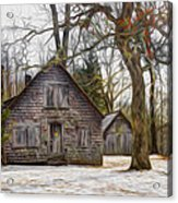 Cabin Dream Acrylic Print by Debra and Dave Vanderlaan