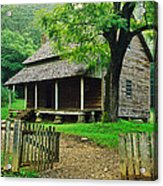Cabin In The Mountains Acrylic Print by David Davis