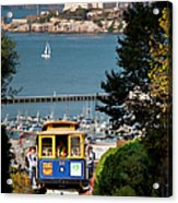 Cable Car In San Francisco Acrylic Print by Brian Jannsen