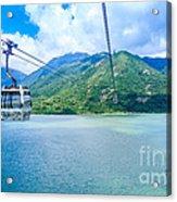 Cable Car Acrylic Print by Niphon Chanthana