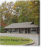 Cades Cove Ranger Station Acrylic Print by Marian Bell