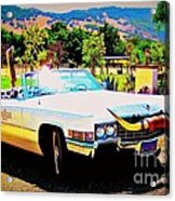 Cadillac Supreme Acrylic Print by Jodie  Scheller