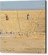 Caesarea Israel Ancient Colosseum Acrylic Print by Robert Birkenes