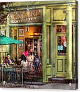 Cafe - Hoboken Nj - Empire Coffee And Tea Acrylic Print by Mike Savad