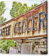 Caffee Grocery Acrylic Print by Scott Pellegrin