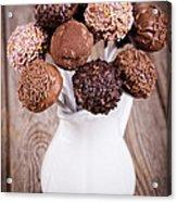 Cake Pops Acrylic Print by Jane Rix