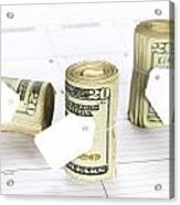 Calendar And Bankrolls Acrylic Print by Joe Belanger